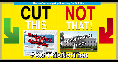cut redundant agencies before cancelling White House tours